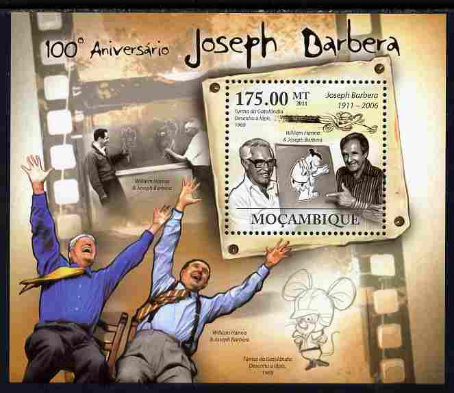 Mozambique 2011 Birth Centenary of Joseph Barbera perf s/sheet unmounted mint Michel BL 454