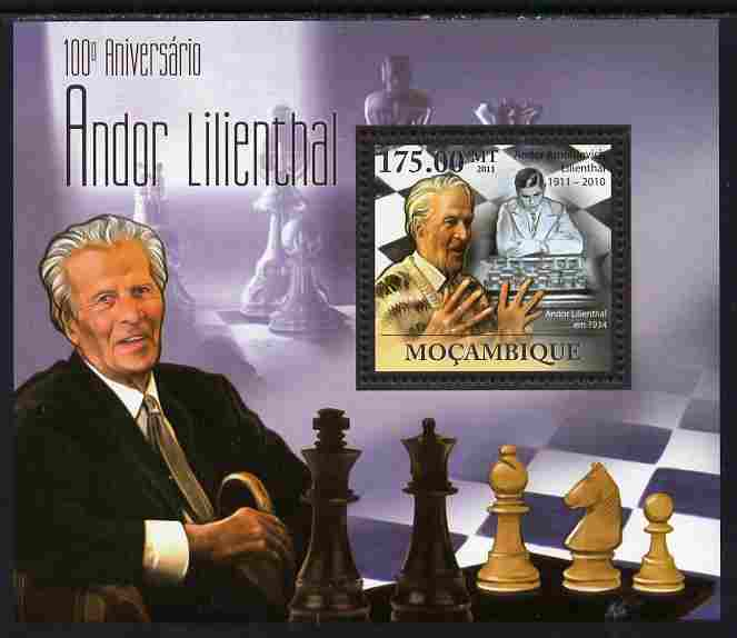 Mozambique 2011 Birth Centenary of Andor Lilienthal (chess) perf s/sheet unmounted mint Michel BL 441
