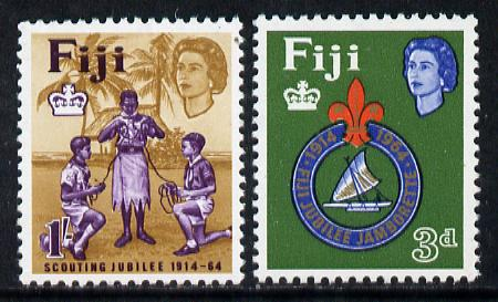 Fiji 1964 Scouts 50th Anniversary set of 2, SG 336-37 unmounted mint*