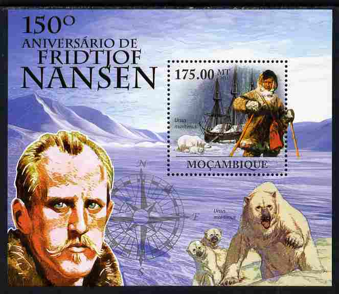 Mozambique 2011 150th Birth Anniversary of Fridtjof Nansen perf s/sheet unmounted mint Michel BL 437