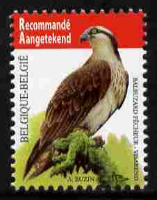 Belgium 2010-14 Birds - Osprey inscribed Recommande Aangetekend unmounted mint,