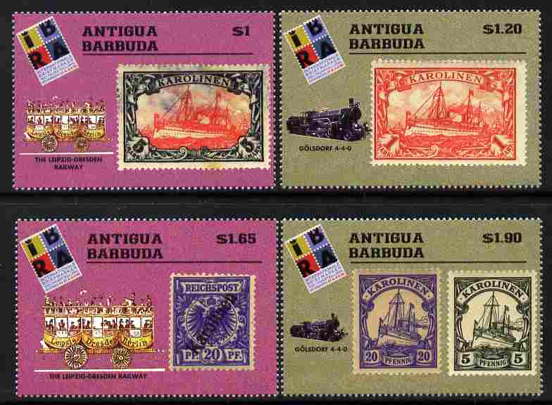 Antigua 1999 IBRA 99 Stamp Exhibition perf set of 4 unmounted mint SG 2894-97
