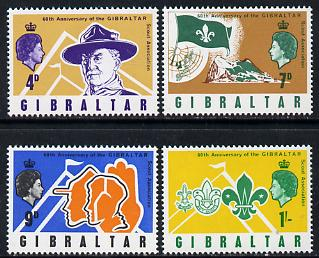 Gibraltar 1968 Scouts 60th Anniversary set of 4 SG 223-26 unmounted mint*