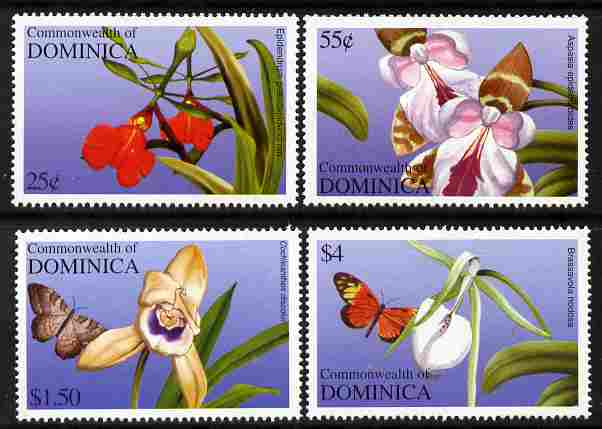 Dominica 2004 Orchids perf set of 4 unmounted mint SG 3351-54
