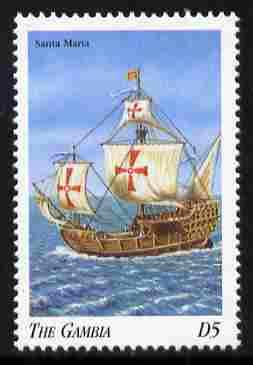 Gambia 1998 Ships - Santa Maria 5D unmounted mint SG 2906