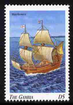 Gambia 1998 Ships - Mayflower 5D unmounted mint SG 2908