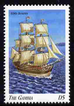 Gambia 1998 Ships - HMS Bounty 5D unmounted mint SG 2911