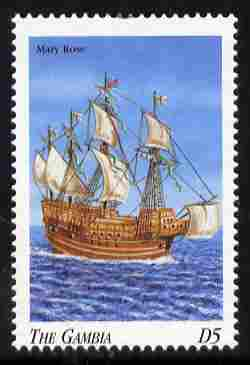 Gambia 1998 Ships - Mary Rose 5D unmounted mint SG 2907