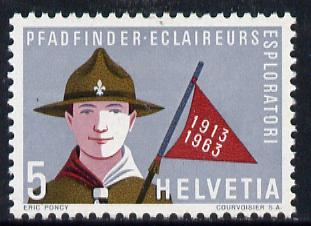 Switzerland 1963 Publicity Issue 5c Scouts 50th Anniversary, SG 670*