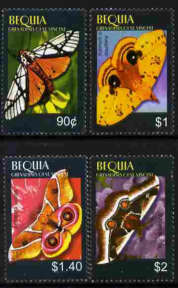 St Vincent - Bequia 2010 Butterflies perf set of 3 unmounted mint