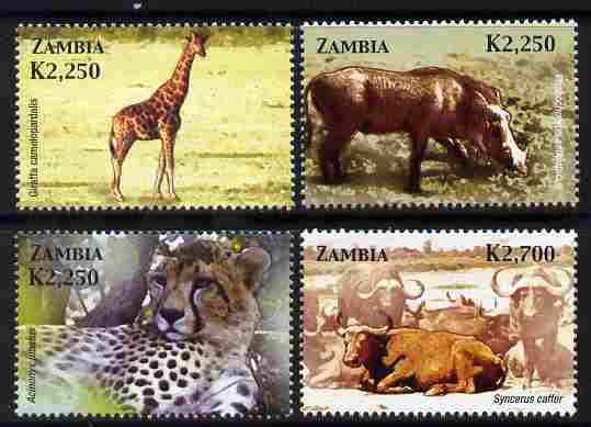 Zambia 2005 Mammals perf set of 4 unmounted mint SG 952-55