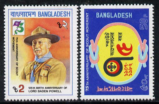 Bangladesh 1982 75th Anniversary of Scouting set of 2 unmounted mint, SG 185-86