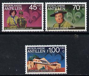 Netherlands Antilles 1981 Scout Anniversary set of 3 unmounted mint, SG 757-59*