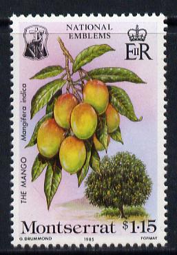 Montserrat 1985 Mango $1.15 from National Emblems Flora & Fauna set unmounted mint, SG 628*