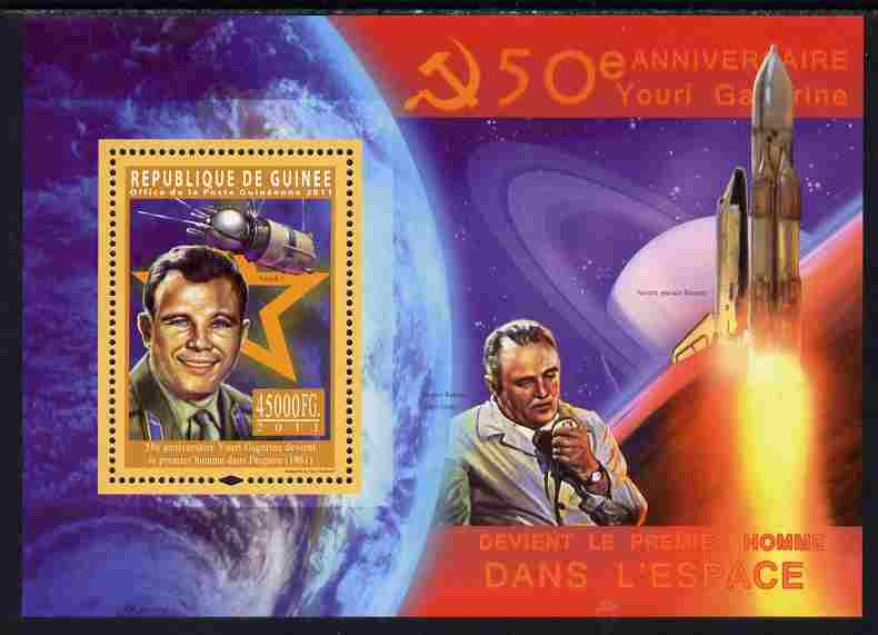 Guinea - Conakry 2011 50th Anniversary of First Man in Space perf s/sheet unmounted mint