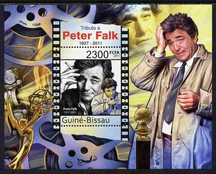 Guinea - Bissau 2011 Tribute to Peter Falk (actor) perf s/sheet unmounted mint