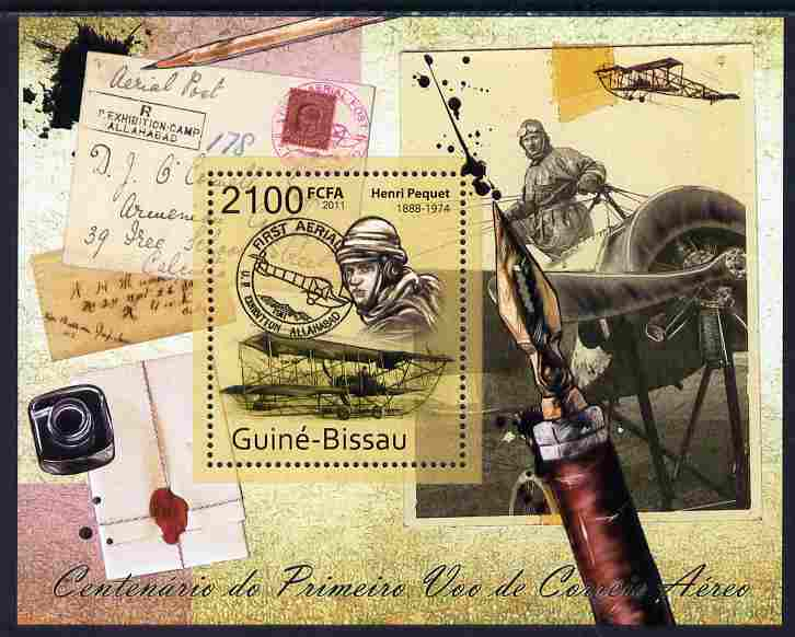 Guinea - Bissau 2011 Centenary of First Airmail Flight perf s/sheet unmounted mint