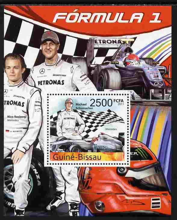 Guinea - Bissau 2011 Formula 1 - Michael Schumacher perf s/sheet unmounted mint