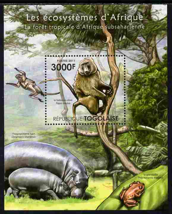 Togo 2011 Ecosystem of Africa - Animals of the Sub-Sahara Desert perf s/sheet unmounted mint