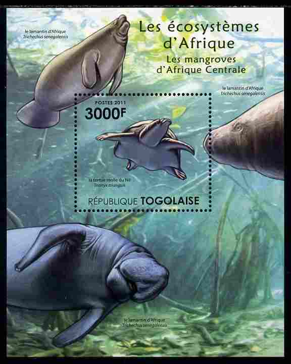 Togo 2011 Ecosystem of Africa - Animals of the Central Mangrove perf s/sheet unmounted mint