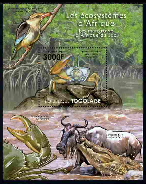 Togo 2011 Ecosystem of Africa - Animals of the South African Mangrove perf s/sheet unmounted mint