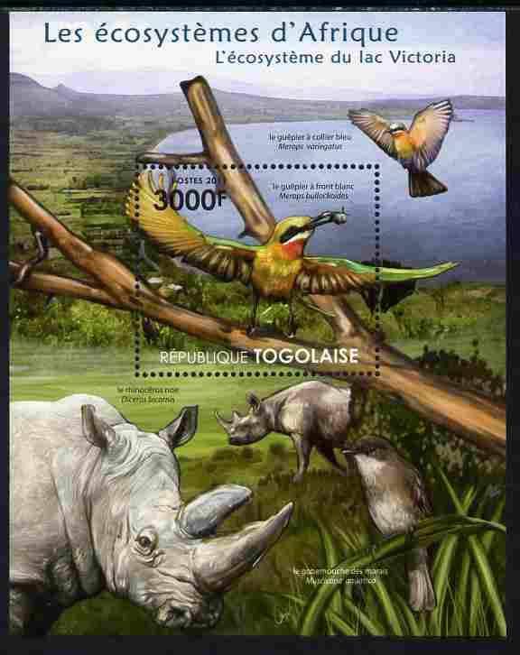 Togo 2011 Ecosystem of Africa - Animals of the Lake Victoria perf s/sheet unmounted mint