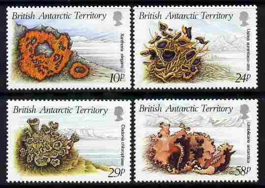 British Antarctic Territory 1989 Litchens perf set of 4 unmounted mint SG 167-70