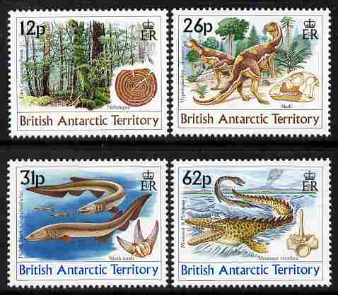 British Antarctic Territory 1991 Age of the Dinosaurs perf set of 4 unmounted mint SG 188-91
