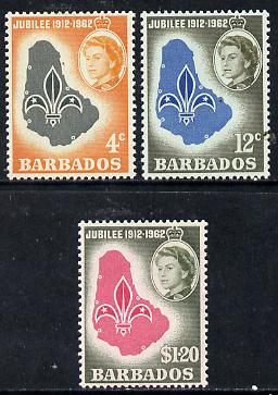 Barbados 1962 Scouts Golden Jubilee set of 3 unmounted mint, SG 309-11