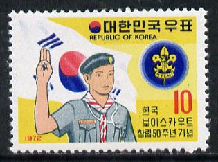 South Korea 1972 Scout Anniversary unmounted mint SG 1022*