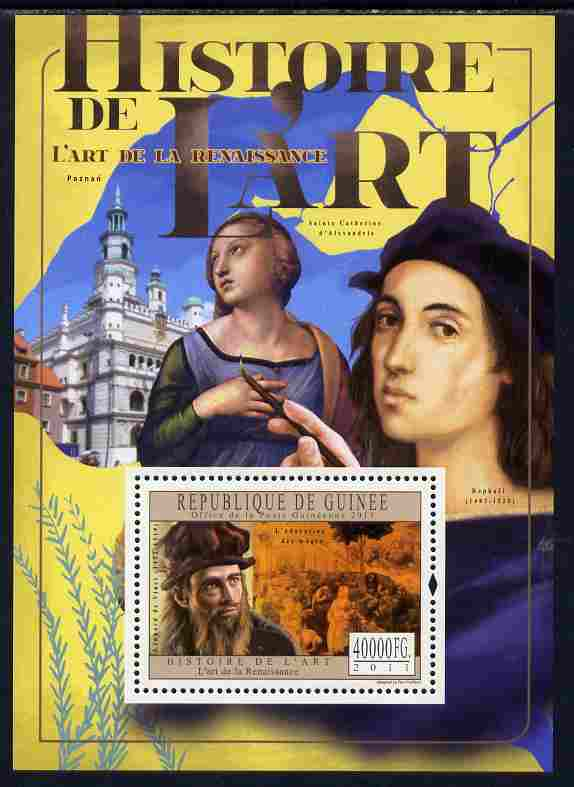 Guinea - Conakry 2011 History of Art - Renaissance Art perf m/sheet unmounted mint