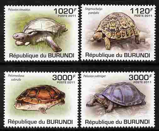 Burundi 2011 Turtles perf set of 4 values unmounted mint