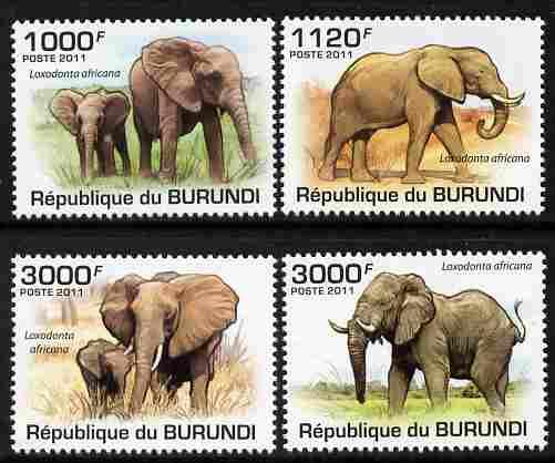 Burundi 2011 Elephants perf set of 4 values unmounted mint