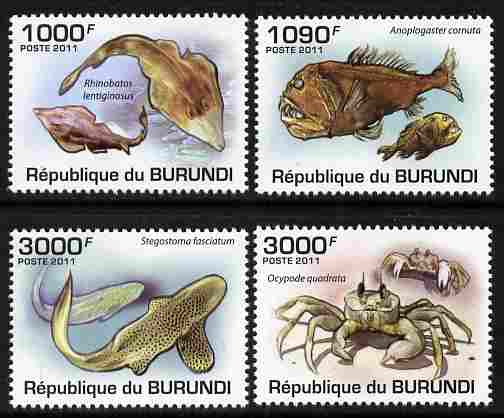 Burundi 2011 Marine Life perf set of 4 values unmounted mint