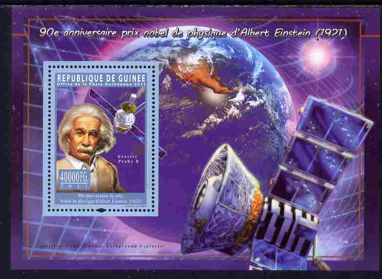 Guinea - Conakry 2011 Albert Einstein - 90th Anniversary of receiving Nobel Prize for Physics perf s/sheet unmounted mint Michel BL 1963