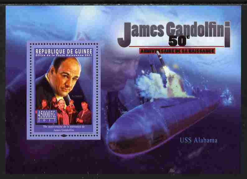 Guinea - Conakry 2011 50th Birth Anniversary of James Gandolfini perf s/sheet unmounted mint Michel BL 1968