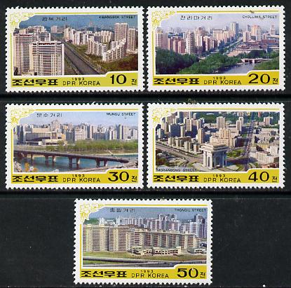 North Korea 1993 Pyongyang Buildings set of 5 unmounted mint SG 3261-65*
