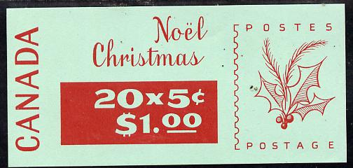 Booklet - Canada 1968 Christmas $1.00 booklet (ordinary) SB 65