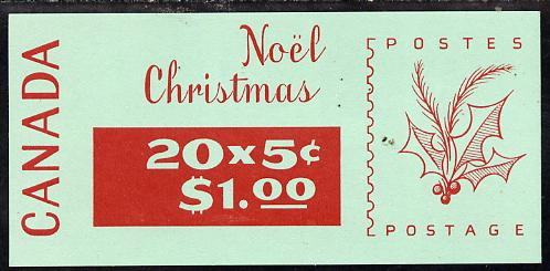 Booklet - Canada 1968 Christmas $1.00 booklet (Phosphor) SB 65a