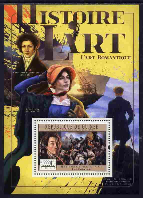 Guinea - Conakry 2011 History of Art - Romantic Art perf s/sheet unmounted mint
