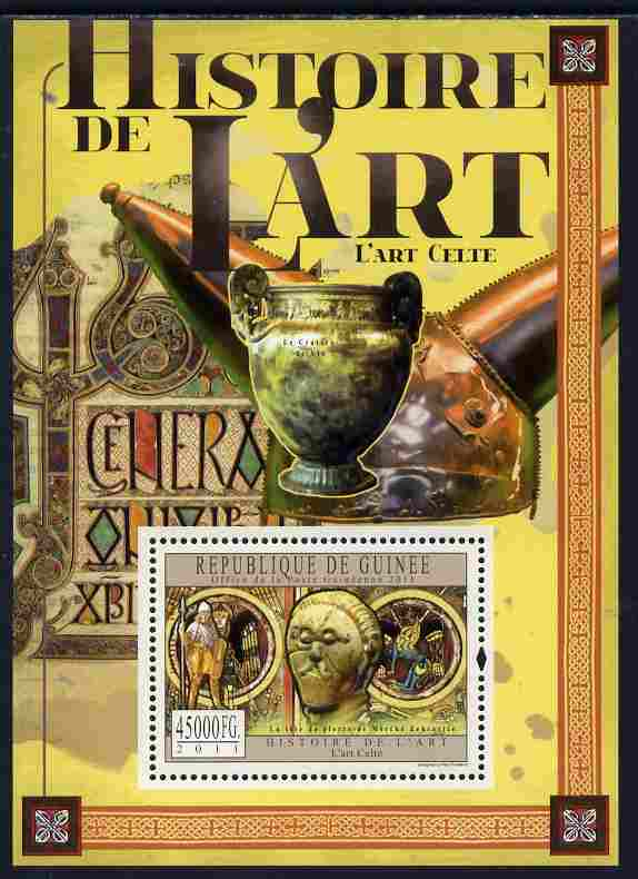 Guinea - Conakry 2011 History of Art - Celtic Art perf s/sheet unmounted mint