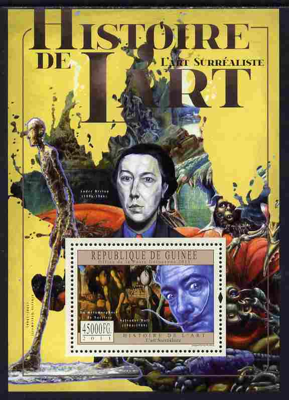 Guinea - Conakry 2011 History of Art - Surrealist Art perf s/sheet unmounted mint