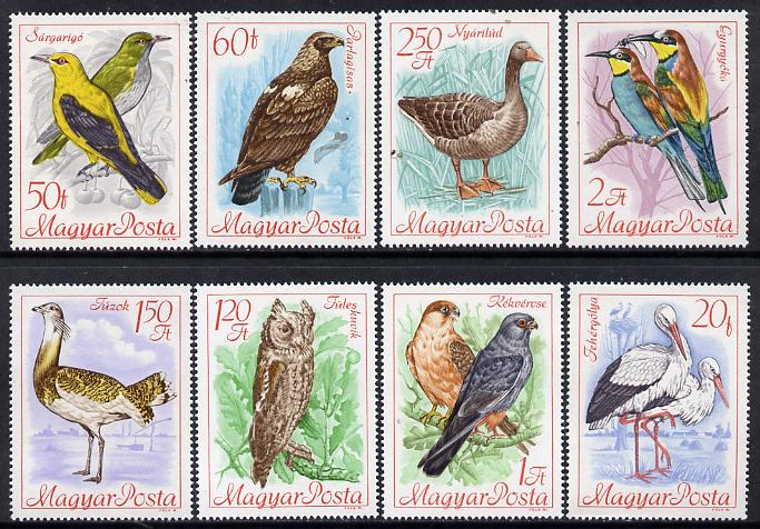 Hungary 1968 Bird Protection perf set of 8 unmounted mint, SG 2346-53