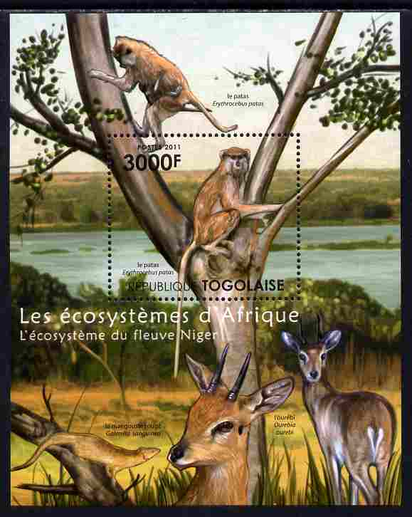 Togo 2011 Ecosystem of Africa - The Niger River perf s/sheet unmounted mint