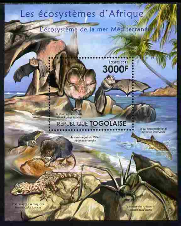 Togo 2011 Ecosystem of Africa - The Mediterranean Sea perf s/sheet unmounted mint