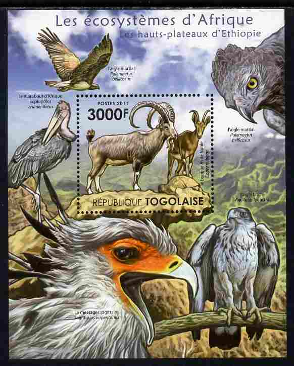 Togo 2011 Ecosystem of Africa - The Highlands of Ethiopia perf s/sheet unmounted mint