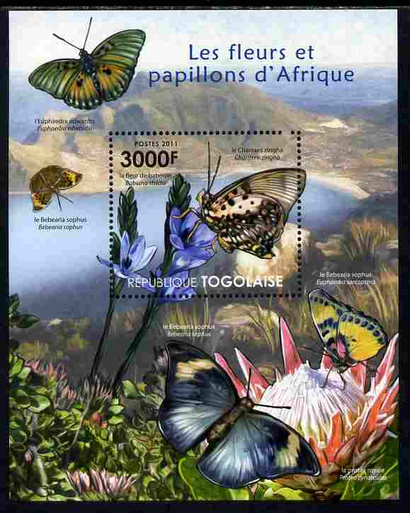 Togo 2011 Flowers & Butterflies of Africa perf s/sheet unmounted mint