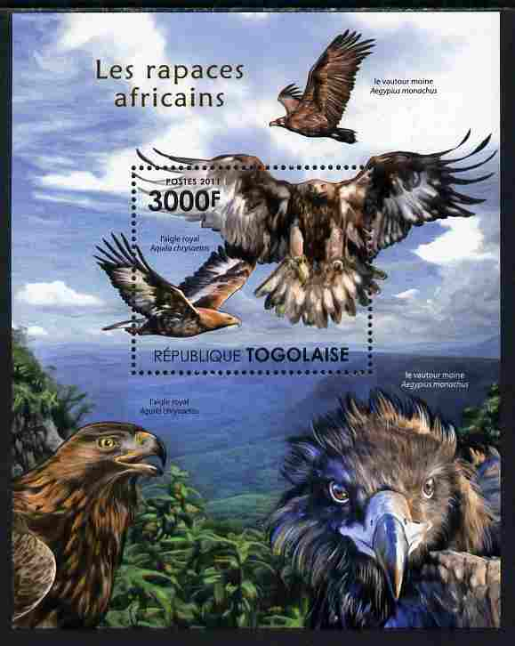 Togo 2011 Raptors of Africa perf s/sheet unmounted mint