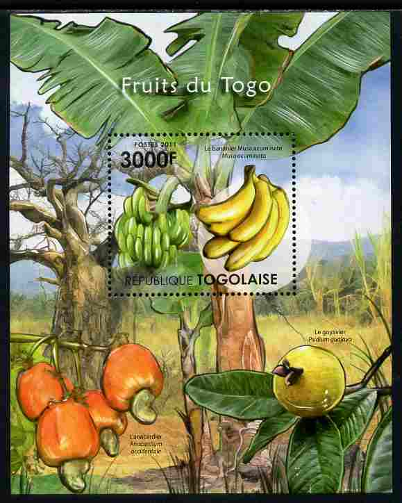 Togo 2011 Fruits of Togo perf s/sheet unmounted mint