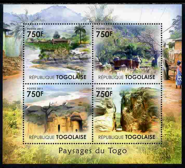 Togo 2011 Landscapes of Togo perf sheetlet containing 4 values unmounted mint